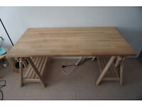 IKEA Table Top / Desk GERTON Wood Beech - FINNVARD legs