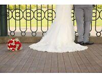 Enzoani Fada Wedding Dress With Belt - Size 8