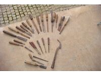 Miscellaneous wood working chisels