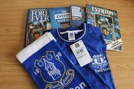 Everton. Everton Books. Everton Jersey and Scarf. Everton memorabilia.