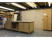 Cabinet Maker or Joiner Bench Space Professional Woodworking Workshop in East London