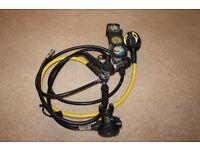 Scubapro Mk20 1st stage, R380 2nd stage, Oceanic octopus, Uwatec triple gauge, LPI drysuit hose.