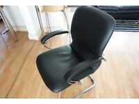 Nowy Styl Artus Black Leather Boardroom / Meeting Room Chair