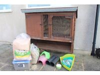 Guinea Pig Hutch plus bedding, food and accessories