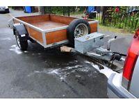 car trailer motorbike braked 750kg