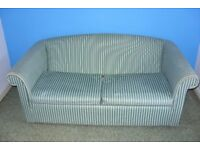 2 Seater Sofabed FREE TO COLLECT has metal frame, mattress is fire retardant. 01761 438720