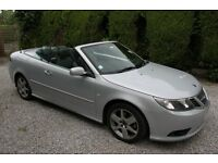 Saab 9-3 TiD Linear SE 150 Silver Convertible 2009 FSH 50K Great Condition