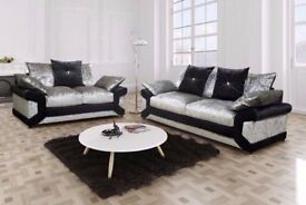 ** 1 YEAR WARRANTY**BRAND NEW MAX DIAMOND CRUSH VELVET 3+2, SWIVEL OR CORNER SOFA EXPRESS DELIVERY