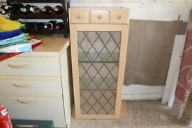 Glass cabinet suitable for kitchen or storage PRICE REDUCED FOR QUICK SALE