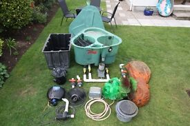 Pond equipment for sale for up to a 4000 gallon pond.