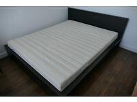 Ikea Malm 160x200 bed frame + Ikea Sultan firm foam mattress