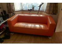 Orange Ikea Klippan Sofa
