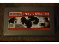 Gym Bench + York Weights