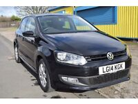 VOLKSWAGEN POLO 1.2 MATCH EDITION 5DR HPI CLEAR WITH FULL SERVICE HISTORY 12M MOT+ 6 MONTHS WARRANTY