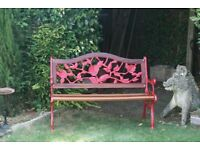 Cast Iron Garden Bench - refurbished