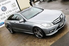 LATE 2011 MERCEDES E250 CDI BLUEEFF SPORT AUTO 204 BHP COUPE *NIGHT ED SPEC* (FINANCE & WARRANTY)