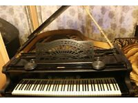 Antique German Grand piano with gorgeous period detailing Franz Wirth