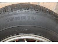 Triumph Sprint/Dolomite/Toledo, Spare Wheel 155 x R13 Tyre Fitted