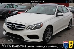 2014 MERCEDES E300 4MATIC/AWD NAVIGATION, CAMERA, TOIT PANORAMIC