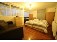 Limehouse: extra large twin/double room at Norbiton Rd, E14, Zone 2