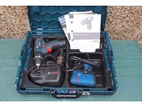 Bosch GSB 10,8-2-LI compact driver/hammer drill + 2x 2AH batteries, boxed immaculate.