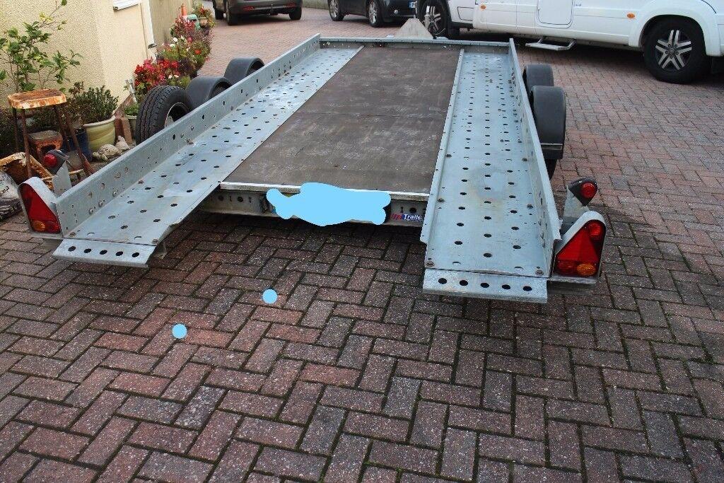 WOODFORD TILT BED CAR TRANSPORTER TRAILER - NO SKIDS REQUIRED
