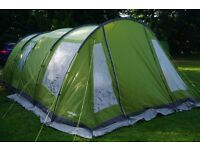 VANGO ISIS/IRIS 5 MAN TENT, FRONT EXTENSION,FOOTPRINT ,CARPET & 50 ROCK PEGS. VGC FROM LINCOLN £200
