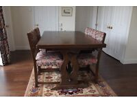 Jaycee Oak Refectory Dining Table and 6 chairs