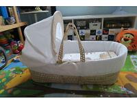 Born Baby Moses Basket / Sleeping Basket