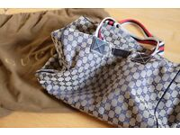 Gucci canvas duffle bag