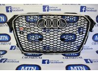 AUDI A4 B8.5 RS4 FRONT GRILL GLOSS BLACK AND CHROME FRAME 2013 - 2015 APROX FITTING FITS B8.5