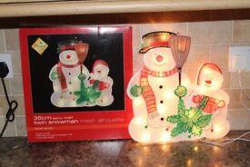 illuminated Christmas decorations Santa Snowman Tree X4 Job Lot
