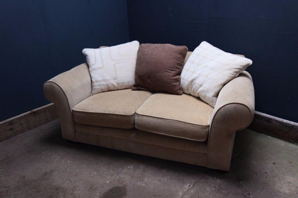Cream Fabric two seater sofa - Good condition