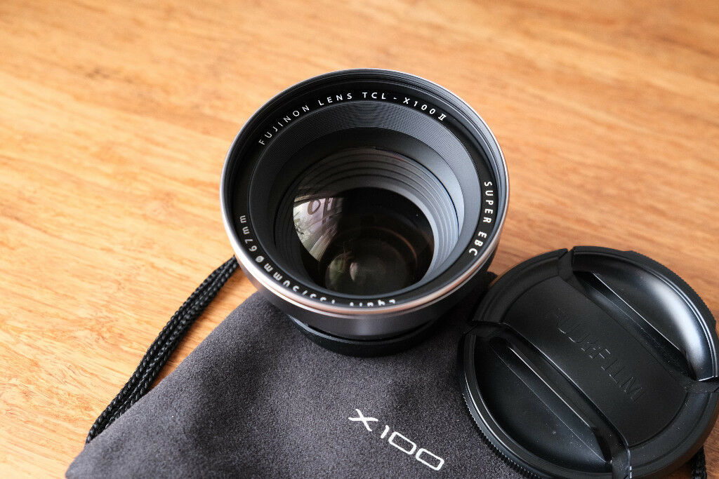 Fujifilm TCL-X100 II  Telephoto conversion lens for X100 series in silver |  in Trafford, Manchester | Gumtree