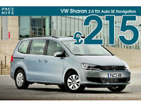 2016-17 VW Sharan 7 seater PCO hire / rent - UBER Hire ready - Better than Ford Galaxy - Diesel auto