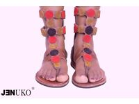Maasai leather beads Sandals