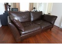 Marks & Spencer Brown Leather Sofa