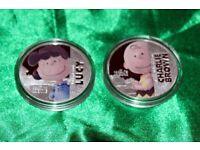 Loud & Proud Lucie & Misfit, Blockhead, Hero Charlie Brown Coins