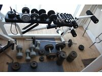 OVER 260 KG Ultimate home gym weight lifting set. Multi gym multigym. Deli poss