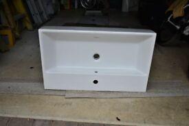 800mm bathroom trough sink