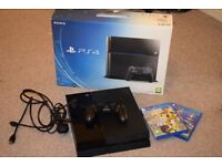 PlayStation 4 (PS4) 500GB Jet Black Console with two games