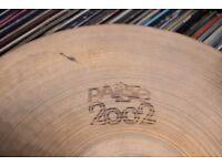 "Paiste 2002 13"" bottom Hi hat cymbal - Vintage - '70s Hollow logo"