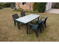 Garden table and chair set for sale