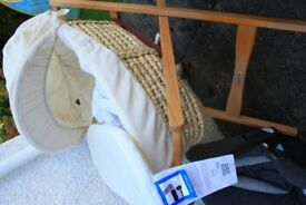 Mamas and Papas moses basket with nearly new mattress