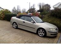 SAAB 9-3 Vector Convertible. 2004, 2.0litre 175BHP. Manual, FSH, leather/heated seats, immaculate