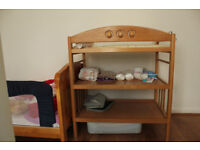 Used Mothercare cot bed, change table and mattress for sale
