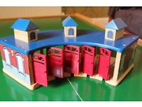 Tidmouth Sheds (wooden) plus turntable