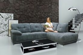 Stunning Brand New corner sofa. available in grey or mink. free delivery