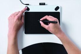 Wacom Intuos Draw Portable Graphic Art Tablet & Pen