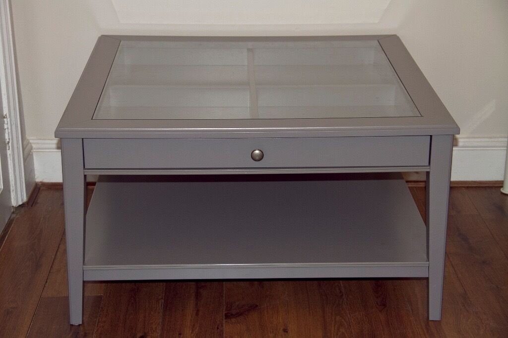 ikea grey wood and glass top coffee table liatorp in bournemouth dorset gumtree. Black Bedroom Furniture Sets. Home Design Ideas